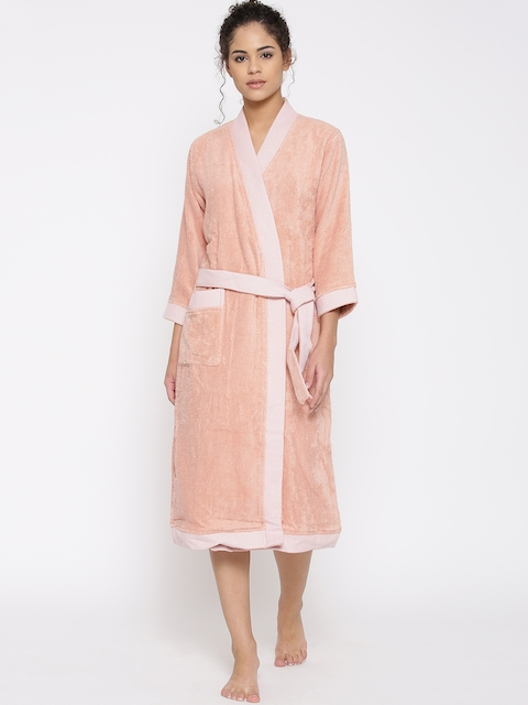 SPACES Unisex Peach-Coloured Bathrobe 1029060