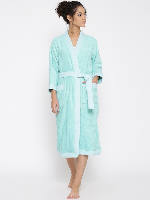 SPACES Unisex Turquoise Blue Bathrobe 1029063