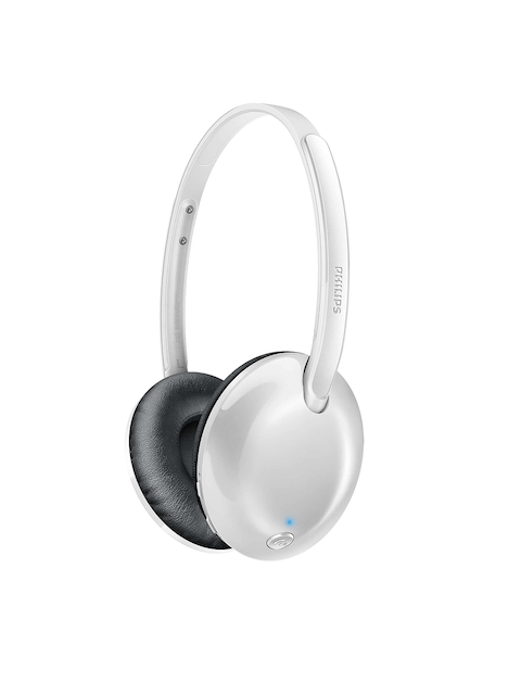 Philips White Bluetooth Headphones with Mic SHB4405WT