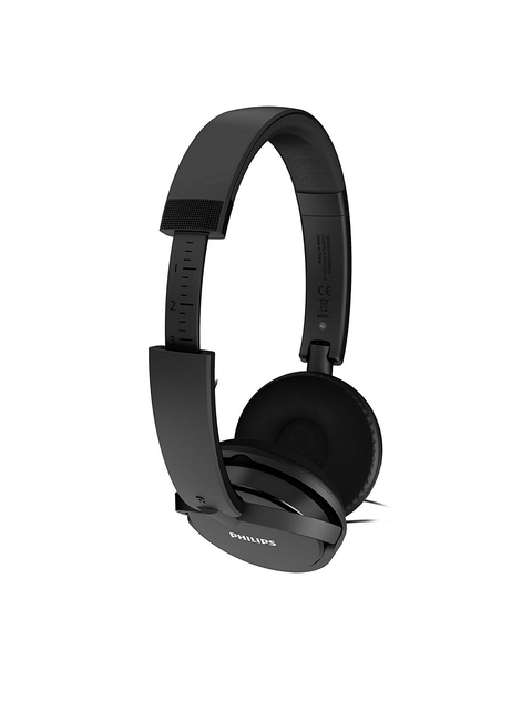 Philips Black Over-Ear Headphones with Mic SHE4205WT