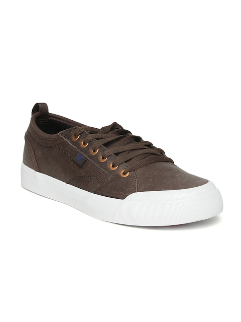 DC Men Brown Evan Smith LX Leather Skateboard Shoes
