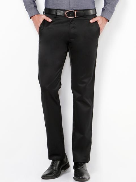 Van Heusen Black Slim Fit Formal Trousers