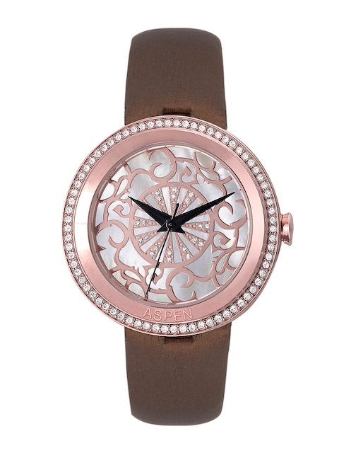 ASPEN Women Silver & Rose Gold-Toned Dial Watch AP2015