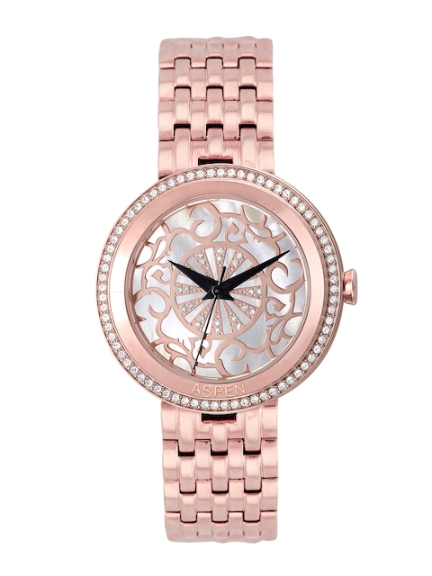 ASPEN Women Silver & Gold Analogue Watch