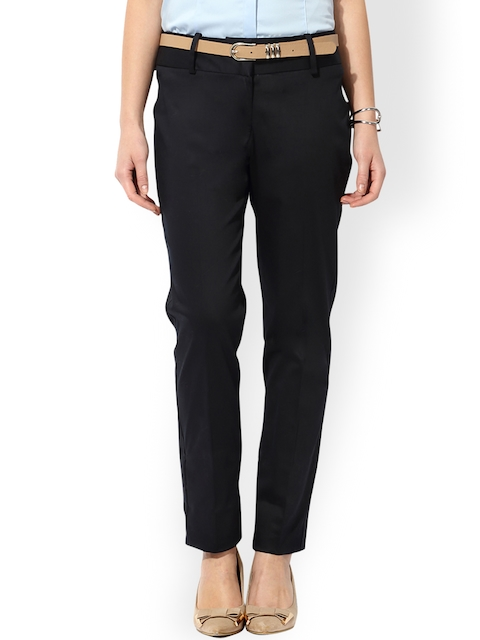 Van Heusen Woman Black Formal Trousers