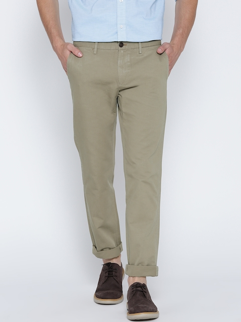 Indian Terrain Men Beige Brooklyn Slim Fit Casual Trousers