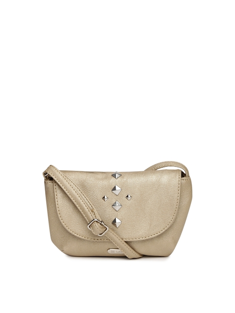 Lavie Muted Gold-Toned Sling Bag  available at myntra for Rs.850