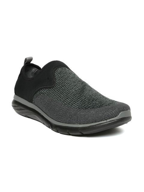 Hush Puppies Men Black & Grey Colourblocked Lyford Speed Loafers