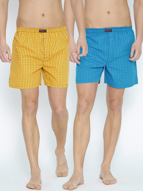 Liberty Pack of 2 Checked Boxers 103AB