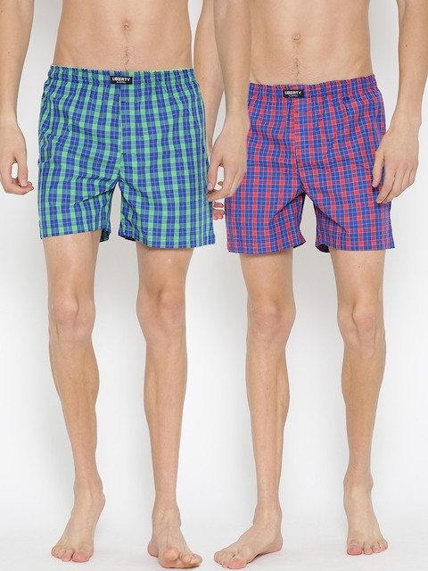 Liberty Pack of 2 Checked Boxers 105BC