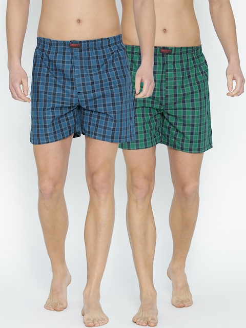 Liberty Pack of 2 Checked Boxers 106AC