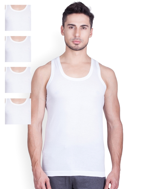 Lux Cozi Pack of 5 White Innerwear Vests COZI_GLO_WH