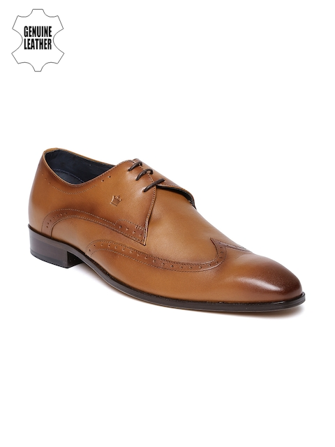 Louis Philippe Men Brown Genuine Leather Brogues