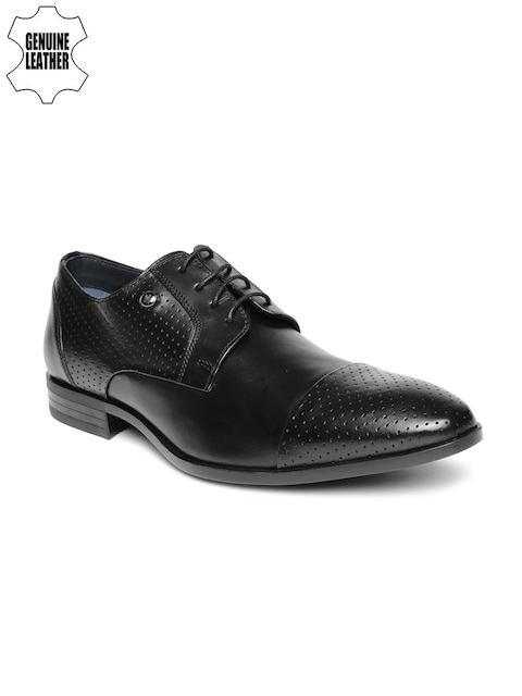 Louis Philippe Men Black Genuine Leather Formal Shoes