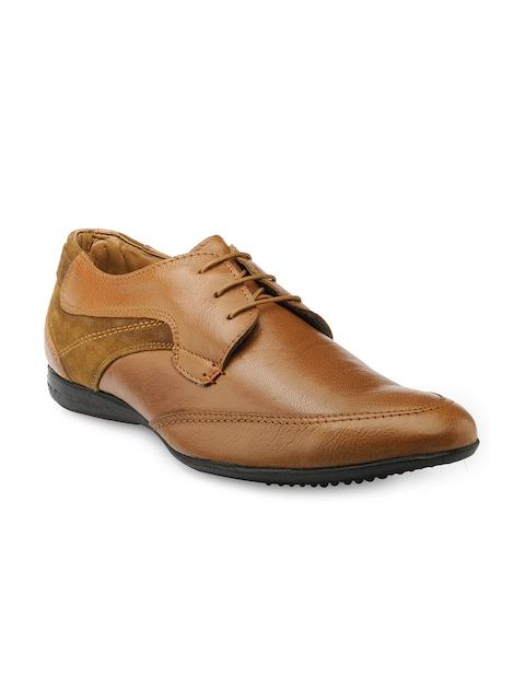 Teakwood Leathers Men Tan Brown Leather Derbys