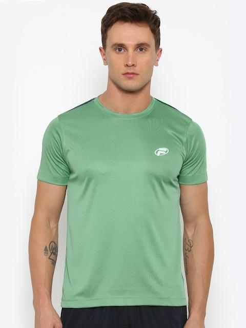 FILA Men Green Solid Round Neck T-shirt