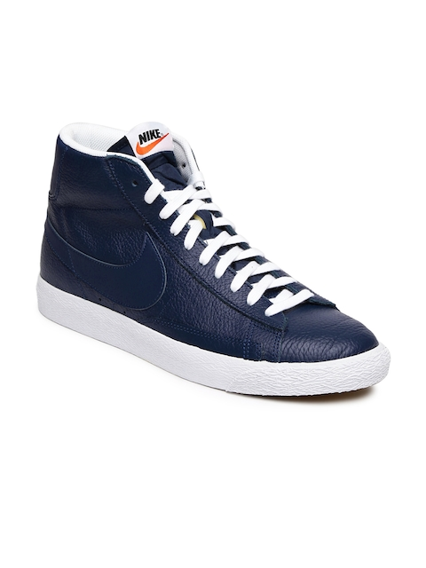 Nike Men Navy Blazer Mid PRM Sneakers