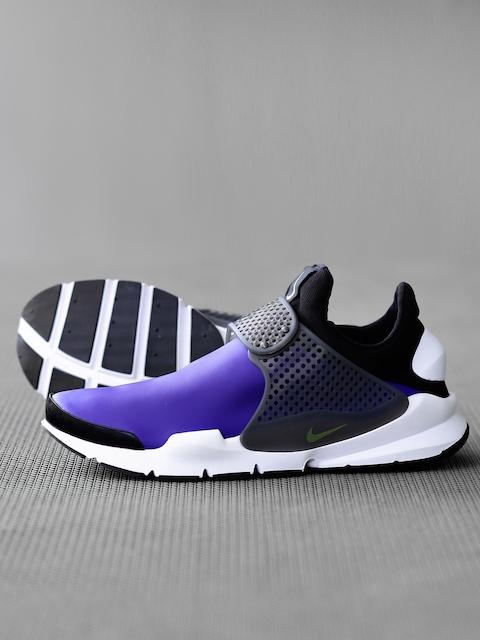 Nike Men Blue & Grey Sock Dart SE Colourblocked & Perforated Slip-On Sneakers