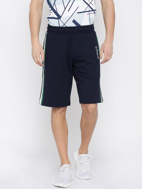 FILA Men Navy Solid Regular Fit Sports Shorts