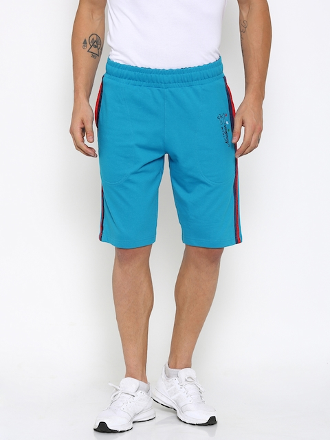 FILA Men Blue Solid Sports Shorts