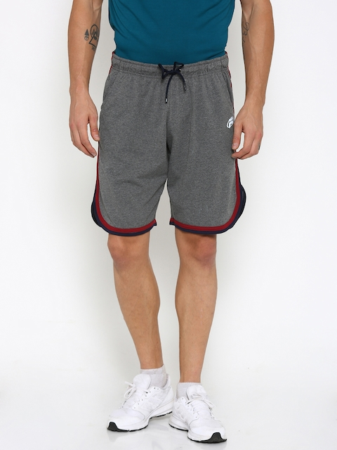 FILA Men Charcoal Grey Sports Shorts