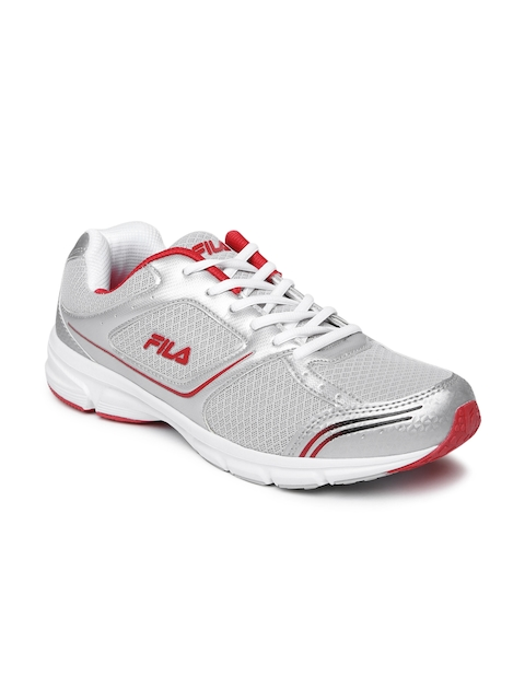FILA Men Silver-Toned & Grey Run Fast Plus 4 Running Shoes  available at myntra for Rs.1399