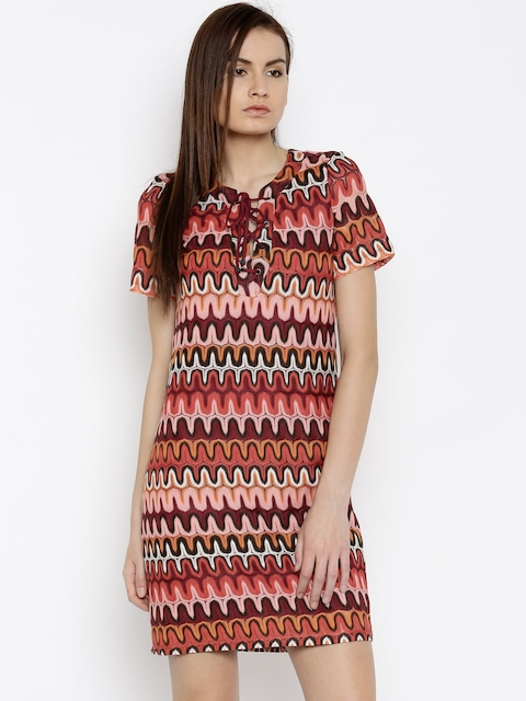 Vero Moda Women Multicoloured Sheath Dress