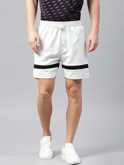 HRX Active by Hrithik Roshan Men Off-White Solid Sports Shorts  available at myntra for Rs.499
