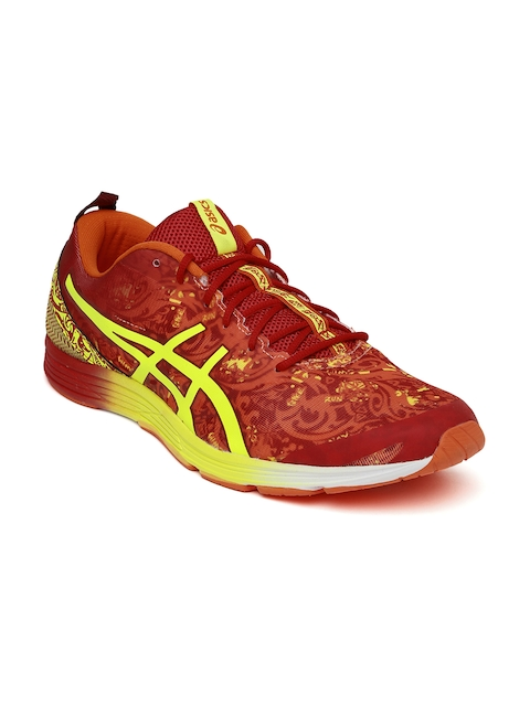 ASICS Men Red & Yellow Printed Running Shoes