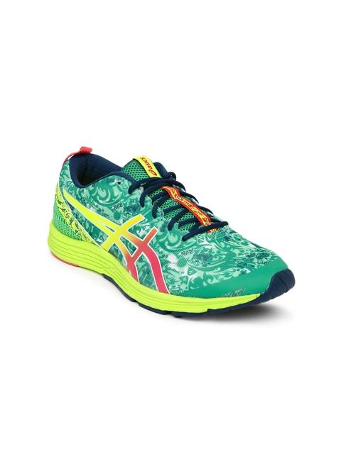 ASICS Women Green Printed Running Shoes