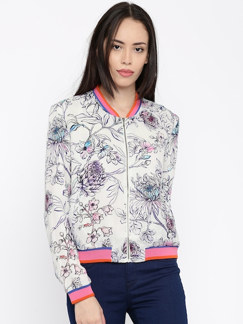 ONLY White Printed Jacket
