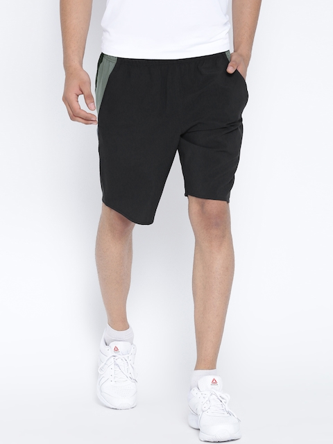 Reebok Men Black WOR WV Solid Training Sports Shorts  available at myntra for Rs.779