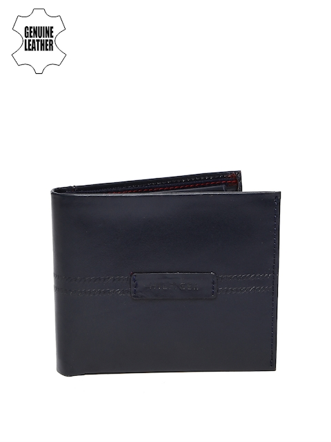 Tommy Hilfiger Men Navy Genuine Leather Wallet