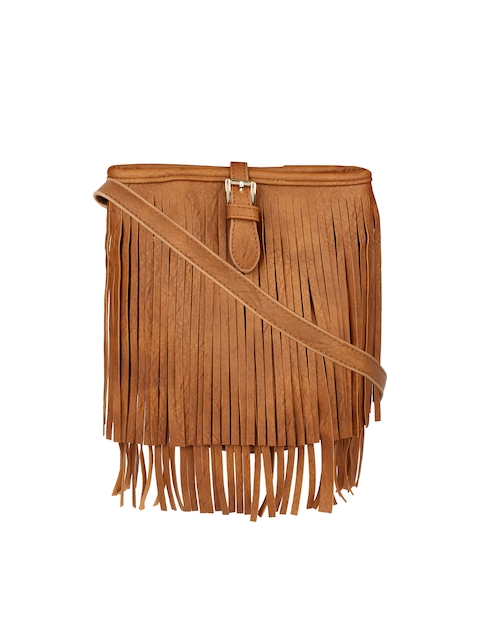 20Dresses Brown Fringed Sling Bag