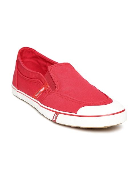 Lee Cooper Men Red Slip-On Sneakers