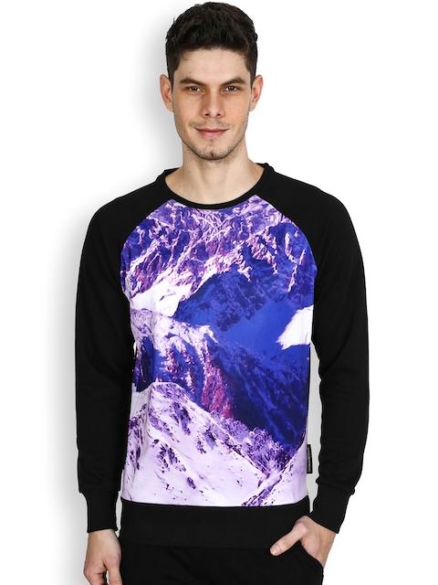 Tiktauli De.Corps. Black & Blue Printed Sweatshirt