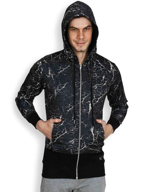 Tiktauli De.Corps. Black Printed Hooded Sweatshirt