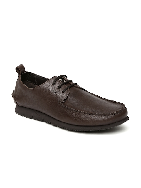 Ruosh Men Brown Solid Genuine Leather Derbys