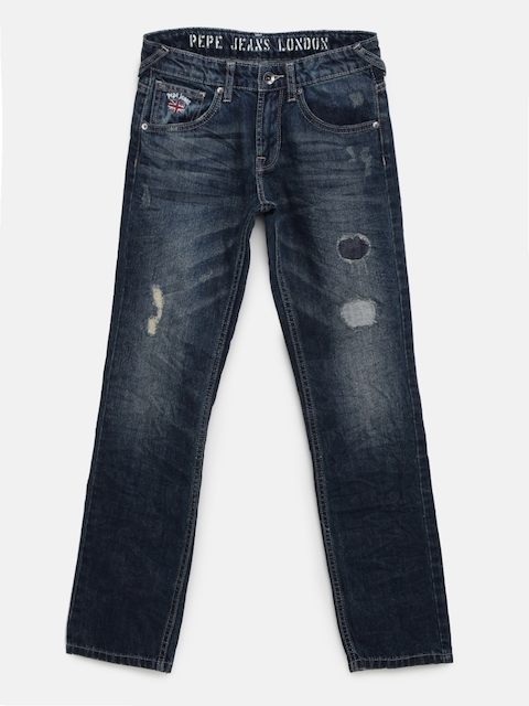 Pepe Jeans Boys Blue Regular Fit Jeans