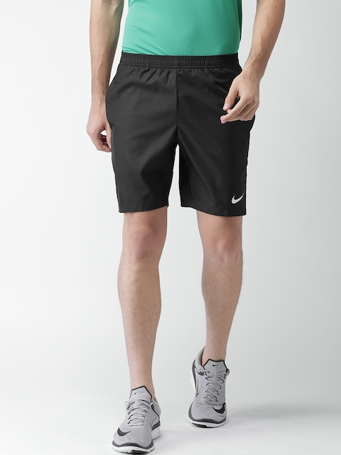 Nike Men Black AS NKCT Dry 9IN Solid Sports Shorts