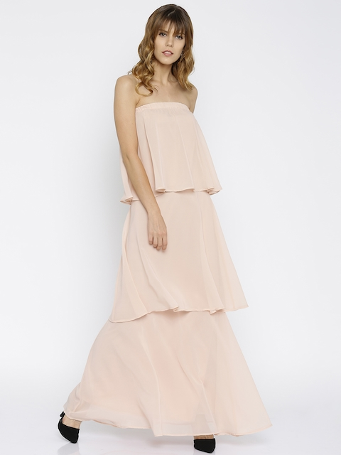 Femella Women Peach Solid Maxi Dress  available at myntra for Rs.715