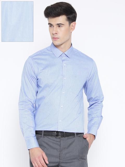 Monte Carlo Men Blue Slim Fit Solid Formal Shirt