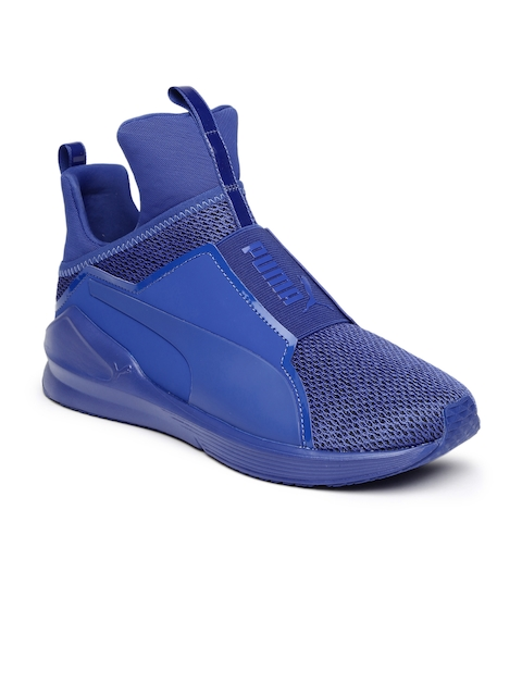Puma Women Blue Fierce Knit Training Shoes