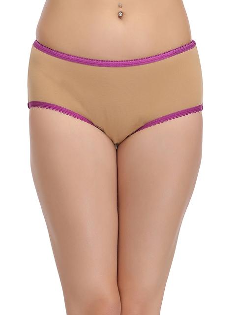Clovia Women Nude-Coloured Hipster Briefs PN1093P24