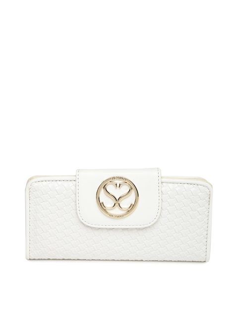 Sugarush Women White Textured Wallet