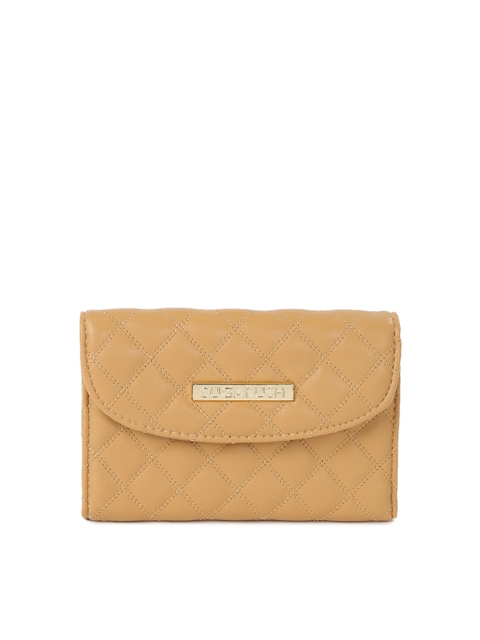 Sugarush Women Beige Quilted Wallet
