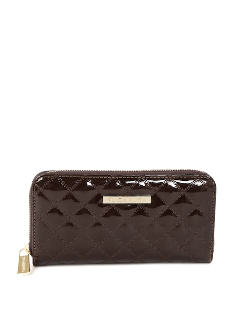 Sugarush Women Coffee Brown Quilted Wallet