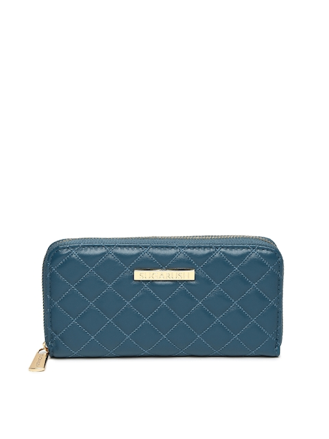 Sugarush Women Blue Quilted Wallet