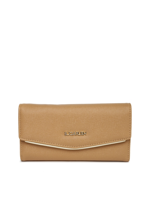 Sugarush Women Brown Textured Wallet