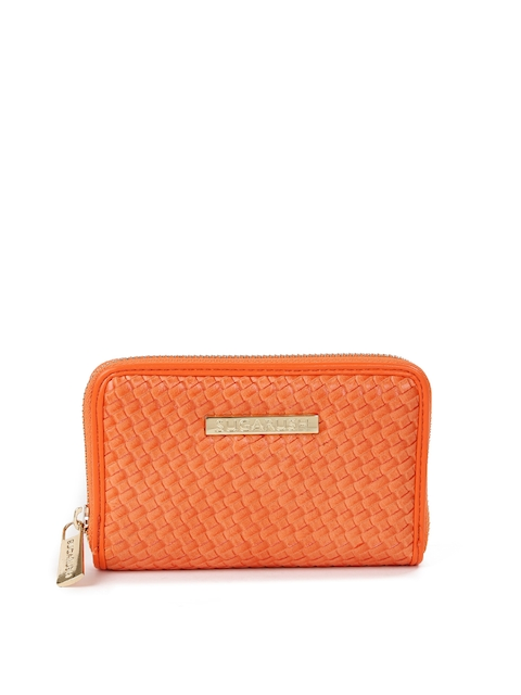 Sugarush Women Orange Textured Wallet